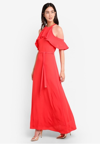 Dorothy Perkins red Red Cold Shoulder Maxi DO816AA08GVRMY_1