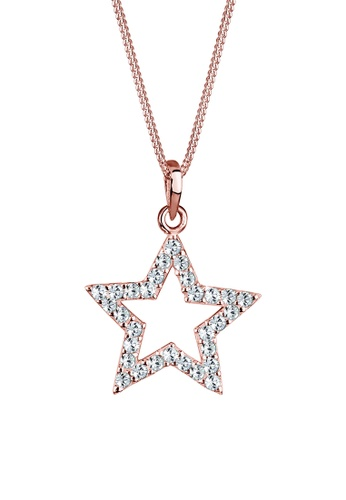 Elli Germany gold Elli Germany Necklace Star Swarovski Crystals 925 Silver Rose Gold Plated EL474AC0SEVBMY_1