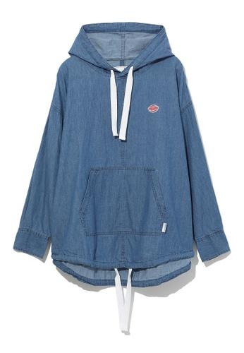 :CHOCOOLATE blue Logo hoodie 6CC64AAEF34DAAGS_1