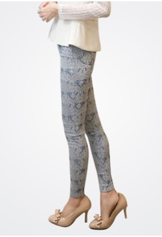 Baroque Lace Stretch Trousers