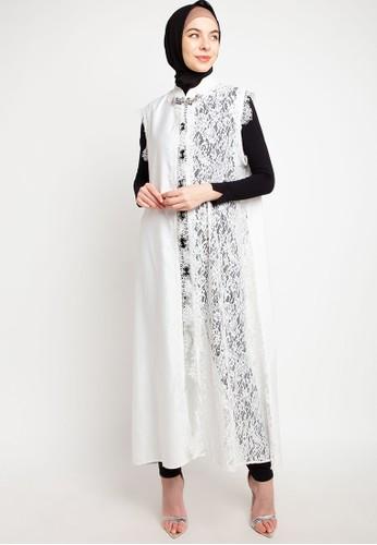 LUIRE by Raden Sirait white MS Coat Monic Panjang Kensi BB E6016AA8FA6F11GS_1