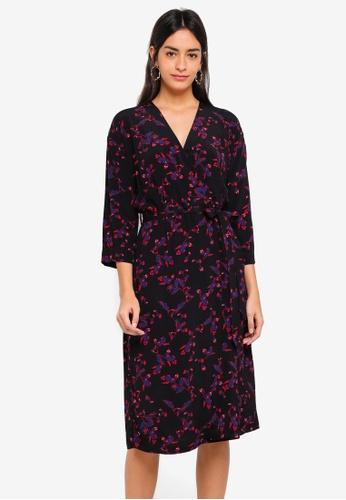Modstrom black and multi Jesla Print Dress 723B3AA5BBCA06GS_1