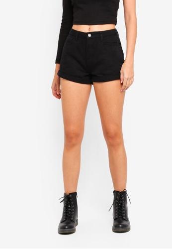 085578cdbefe Buy MISSGUIDED Highwaisted Turn Up Hem Denim Shorts Online on ZALORA ...