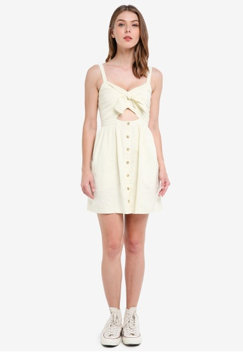 ad6aa06e29e Shop Abercrombie   Fitch Bare Knot Front Button Thru Dress Online on ...
