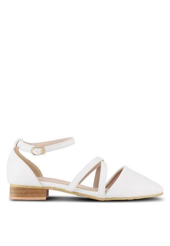 Twenty Eight Shoes white Cross Strap Ballet Flats TW281SH0RLUEMY_1