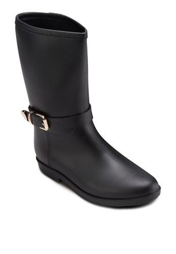 扣環騎士雨靴, esprit台灣outlet女鞋, 鞋