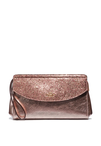 Coach pink and gold Flap Clutch (cv) 19FE8AC32F0595GS_1