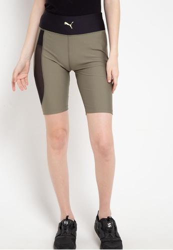 puma green Puma Sportstyle Prime Evide High Waist Shorts 24ED6AAA224801GS_1