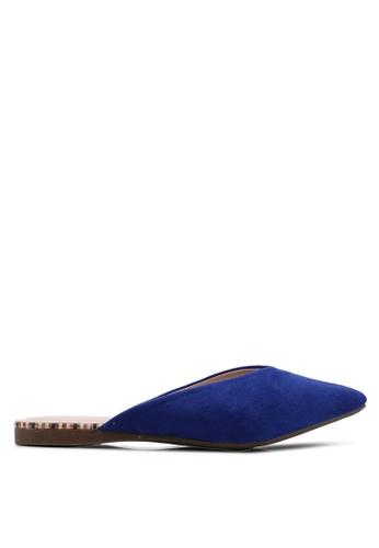 Nose 藍色 麂皮尖頭穆勒鞋 29890SH85D1026GS_1
