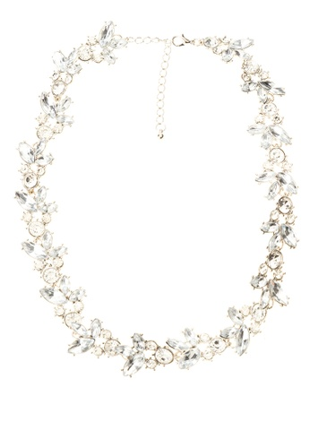 Kimberley silver Faux Stone Statement Necklace KI026AC81RPQPH_1