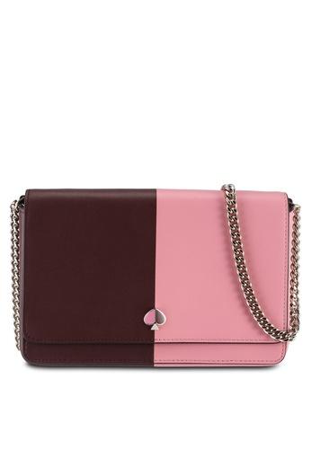 kate spade new york pink Nicola Bicolor Chain Wallet (cv) E0DA4ACCAAA988GS_1