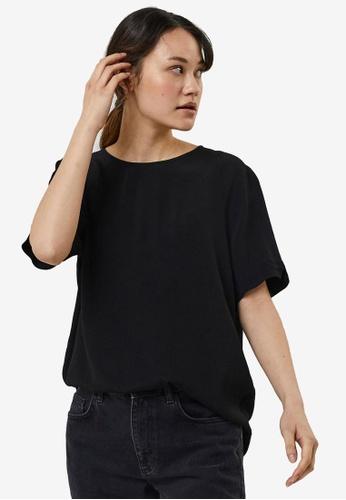 Vero Moda black Rillo Short Sleeves Top 8DE3CAA0BE64BFGS_1