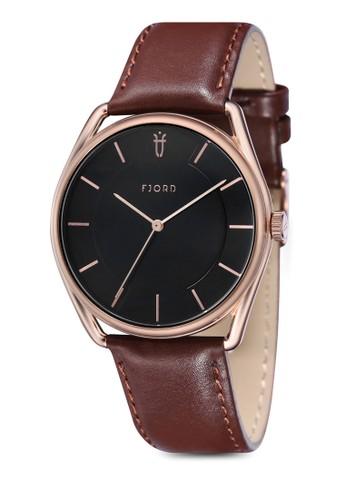 Vesprit香港分店地址IGDIC 三指針皮革錶, 錶類, 皮革錶帶