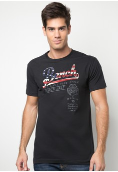 Men's Round Neck Printed Tee