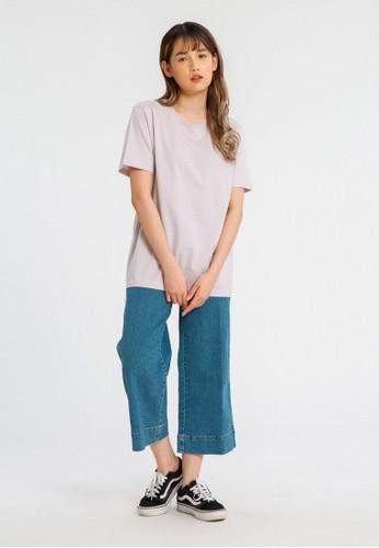 ALOWALO lilac purple ALOWALO - Short Sleeve T-shirt Crew Neck Women - Lilac Hint E4392AAE5129FFGS_1