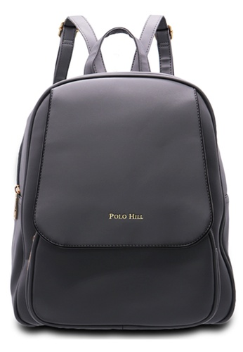 Polo Hill grey Polo Hill Grey Casual Backpack B0CDEACD562DCEGS_1