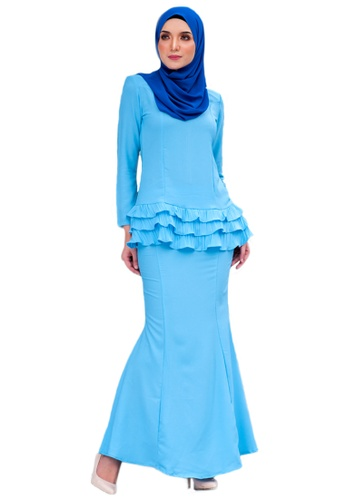 Maribeli Butik Peplum Candy - Light Sky Blue from Maribeli Butik in Blue