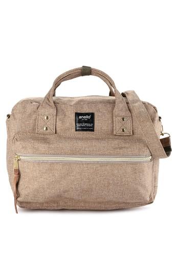 Anello beige 2-way Square Boston Shoulder Bag 94B7CAC11082E8GS_1