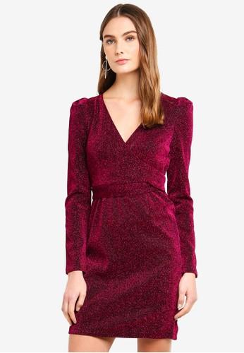 Vero Moda purple Wild L/S Short Dress F8286AAB13E6EFGS_1