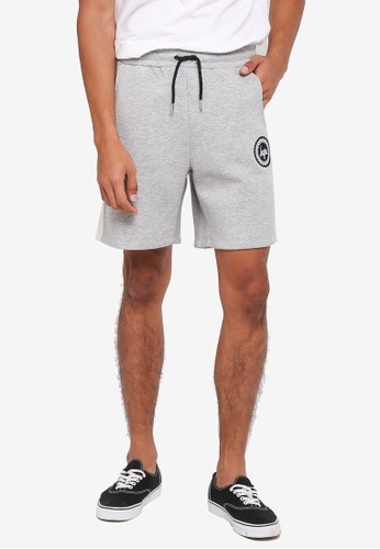 Just Hype grey Loopback Panel Shorts 4189DAA77FF2BAGS_1