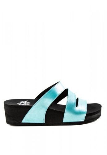 Otto blue Metallic Slide Sandals AE6E5SH83B07C1GS_1