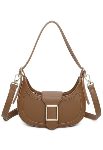 Milliot & Co. brown Lillian Shoulder Bag 74B0BACDB9B6B3GS_1