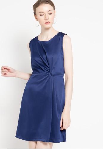 WHITEMODE navy Lilah Dress WH193AA10NIRID_1