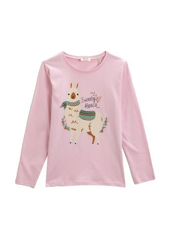 KOTON pink Cotton Long Sleeves T-Shirt 22070KA26BB740GS_1