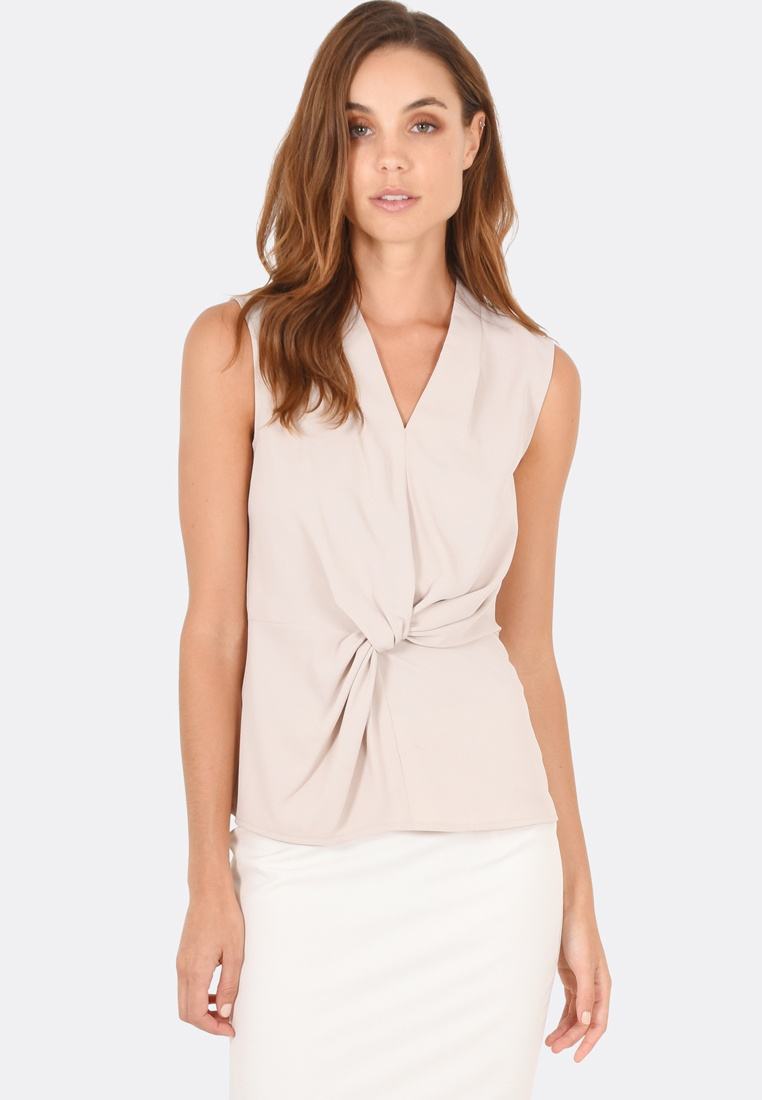Top Top Morgan Sleeveless FORCAST Taupe FORCAST Taupe Morgan Sleeveless FxU70wq0