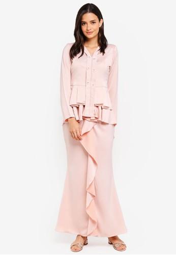 Aqeela Muslimah Wear pink Qhalisha Pleated Kebaya 454EEAA87EEEB0GS_1
