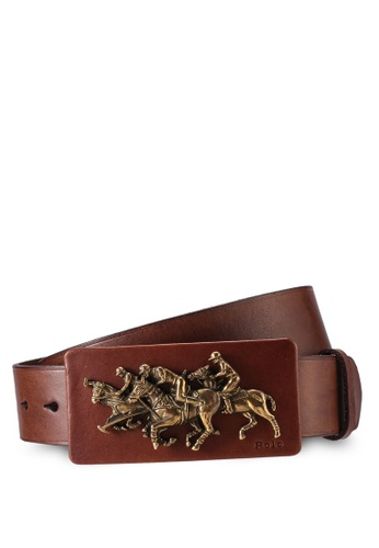 Polo Ralph Lauren brown Polo Casual Smooth Leather Belt FC482ACDB5CDFBGS_1