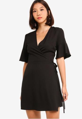 Shop Something Borrowed Ruffles Sleeves Wrap Dress Online on ZALORA  Philippines c132666cf