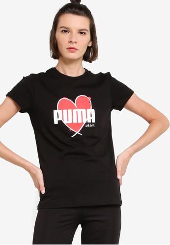 PUMA black Heart Women's Tee 62C1EAA9C77067GS_1