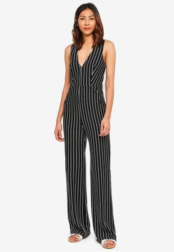 Miss Selfridge multi Stripe Button Jumpsuit 741BBAAAF0B71CGS_1