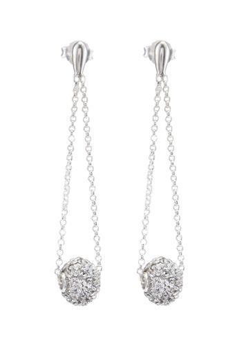 65deaecf3a885 Elli Germany Earrings 925 Sterling Silver Geo Festive Swarovski Crystals
