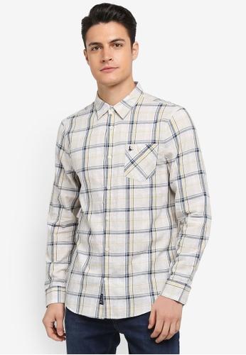 Jack Wills grey Salcombe Lw Flannel Check Shirt 54295AA857A9ECGS_1