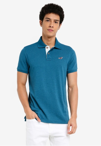 Hollister blue Core Polo Shirt B9441AA8BEE4A6GS_1