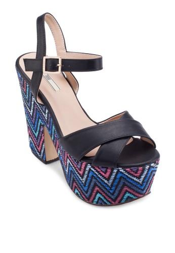 交叉帶民族風楔形鞋、 女鞋、 鞋Nose交叉帶民族風楔形鞋最新折價