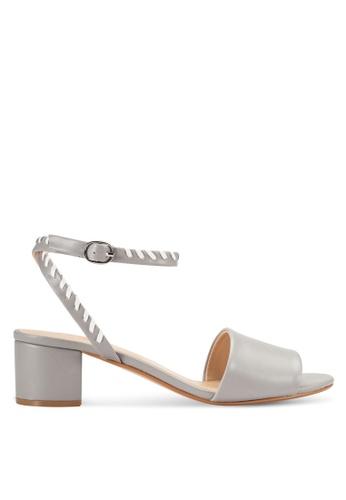 ZALORA grey Mid Heel Sandals A476ESH3333C22GS_1