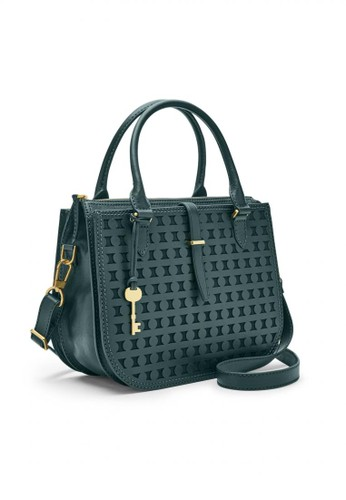 56c545f60 Fossil blue Fossil Ryder - Leather - Satchel - Indian Teal - Tas Wanita -  ZB7589