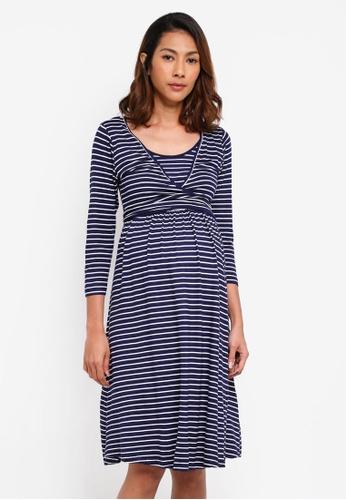 JoJo Maman Bébé multi Maternity & Nursing Tie Dress CAD2DAAE7F9F46GS_1