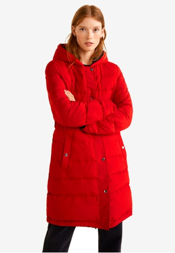Mango black and red Reversible Feather Down Jacket CE398AA183F570GS_1