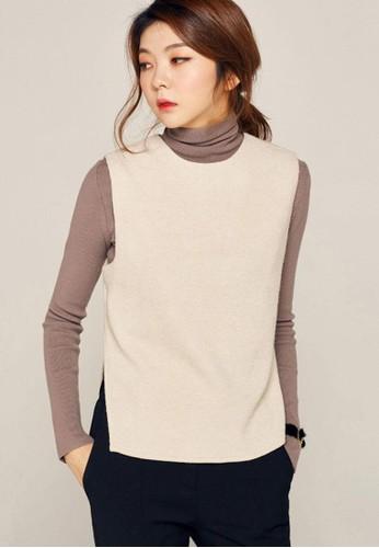 不對稱裁剪針織馬甲, 服飾, 毛衣& 針織zalora 順豐外套