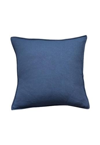 DILAS HOME Basic Lightweight Cushion Cover (Navy Blue) 0E13AHL60B90ECGS_1