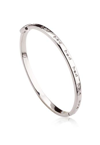OUXI silver OUXI Ribbon Elegant Bangle OU821AC43TMQMY_1