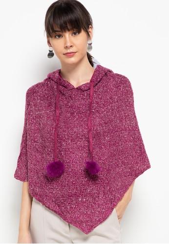 Chic Simple purple Metallic Knit Hoodie FF62CAA1CA9E44GS_1