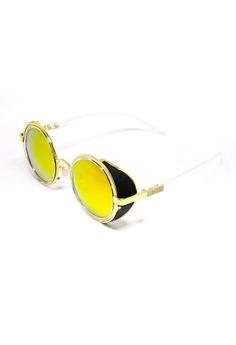 41454a62189 Amora Scarlett black and gold Wonka Orange-Red Lens with Gold Frame Eyewear  AM058AC0RX1FMY 1