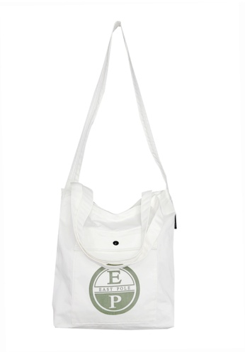 East Pole white Unisex Two-way Crossbody tote bag 98C25ACE7BFBABGS_1