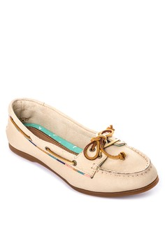 Audrey Satin Piping Boat Shoes