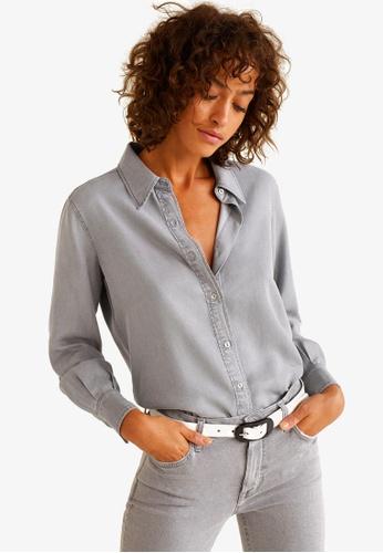 Mango grey Denim Style Soft Shirt 1FFC9AADAB0CF3GS_1